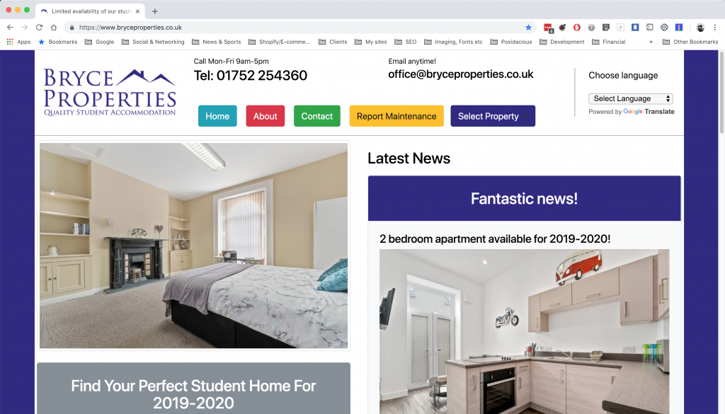 Bryce Properties - A website by Anything I.T.