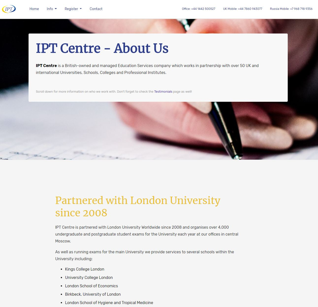 IPT Centre - A website by Anything I.T.